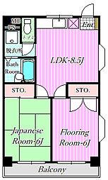 ベルジュ富士見[2階]の間取り