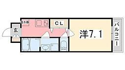 Capital.i姫路[7階]の間取り