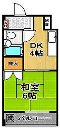 サントピア大正3[3階]の間取り