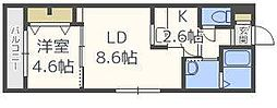 ラ・コーザN10[2階]の間取り
