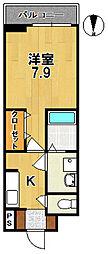 ブランドール[3階]の間取り