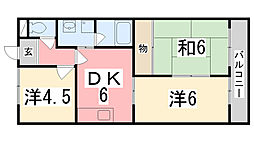キャッスルKAZU[101号室]の間取り