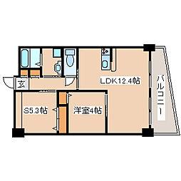 兵庫県神戸市垂水区平磯1丁目の賃貸マンションの間取り