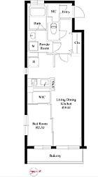 東京メトロ丸ノ内線 四谷三丁目駅 徒歩7分の賃貸マンション 4階1LDKの間取り