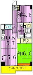 ライオンズマンション三郷第2[405号室]の間取り