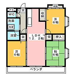 ベンハウス平田東公園[5階]の間取り