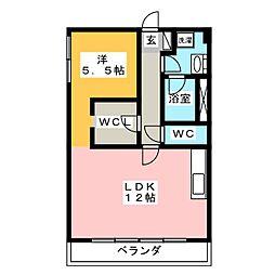 ビラ松風苑[3階]の間取り