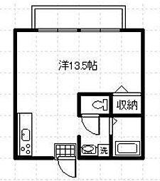宮崎県宮崎市祇園3丁目の賃貸アパートの間取り