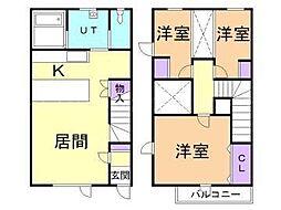 [テラスハウス] 北海道札幌市東区中沼西二条2丁目 の賃貸【/】の間取り
