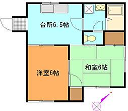 メゾンN・Y[1階]の間取り