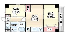 オーク松本通[301号室]の間取り