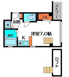 セレブコート京橋[4階]の間取り