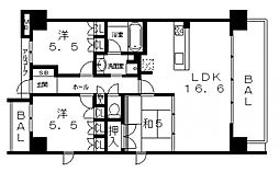 CFS八尾本町AIR[501号室号室]の間取り