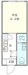 DEN OYAMA[1階]の間取り