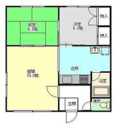 小室マンション1[2C号室]の間取り