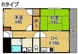 メゾン赤松[4階]の間取り