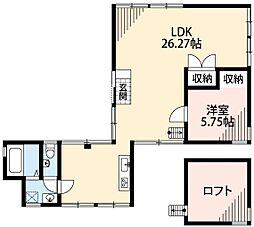 Awazuku house 1階1LDKの間取り