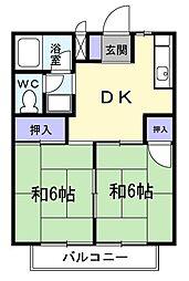 群馬県高崎市浜尻町の賃貸アパートの間取り