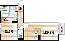 D-room後藤寺 B棟[1階]の間取り