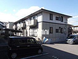 愛知県岡崎市上和田町字ヒソ畑の賃貸アパートの外観