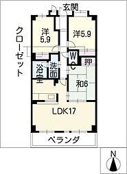藤マンションII[4階]の間取り
