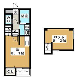 ポラリス箱崎5[1階]の間取り