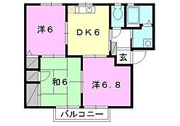 フォーレス森田[C-201 号室号室]の間取り