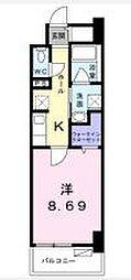 高松琴平電気鉄道長尾線 花園駅 徒歩4分の賃貸マンション 6階1Kの間取り
