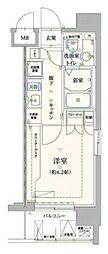 神奈川県横浜市南区通町2丁目の賃貸マンションの間取り