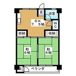 UR富吉第2[5階]の間取り