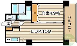 ノルデンタワー新大阪プレミアム 22階1LDKの間取り