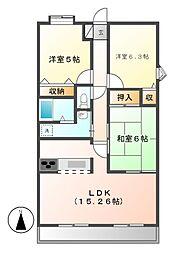 ファーニス白壁[8階]の間取り