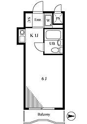 スカイコート新宿落合4[3階]の間取り