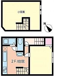 神奈川県横浜市中区曙町2丁目の賃貸アパートの間取り
