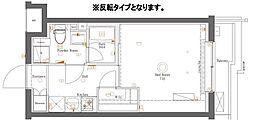 都営大江戸線 新江古田駅 徒歩4分の賃貸マンション 1階1Kの間取り