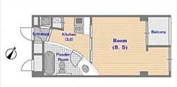 シンシア三軒茶屋Residence Cafe[2階]の間取り