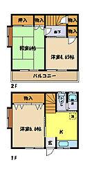 [テラスハウス] 埼玉県さいたま市中央区新中里3丁目 の賃貸【埼玉県 / さいたま市中央区】の間取り
