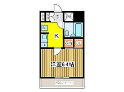 マンション清山[7階]の間取り