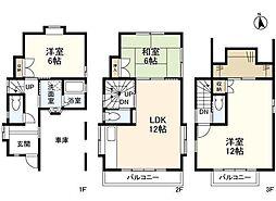 東京メトロ日比谷線 広尾駅 徒歩13分の賃貸一戸建て 3LDKの間取り