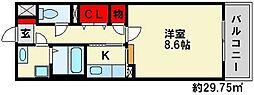 エテルノ御笠川[2階]の間取り