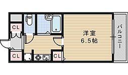 グランヴィ天王寺[1階]の間取り