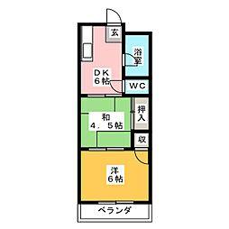 木下ビル[3階]の間取り