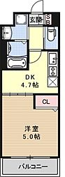 アクアプレイス京都西院[307号室号室]の間取り