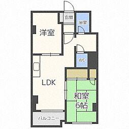 北海道札幌市中央区南六条西25丁目の賃貸マンションの間取り