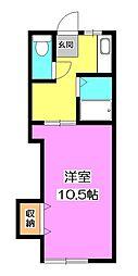 埼玉県新座市新座1丁目の賃貸アパートの間取り