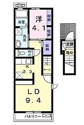 ラポールカメリア[2階]の間取り