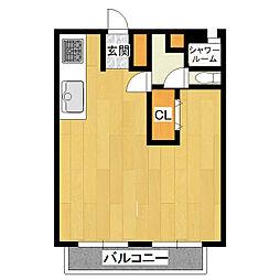 木田余アーバンハイツ[2階]の間取り