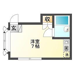平川コーポ[201号室]の間取り