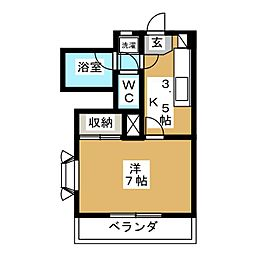 コープKII[3階]の間取り