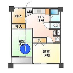 黒川住宅[11階]の間取り